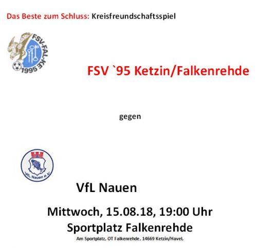 Nicht vergessen: Heute gegen VfL Nauen!