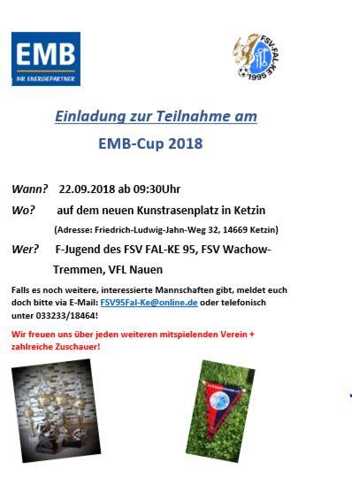 EMB-Turnier 2018 am 22.09.
