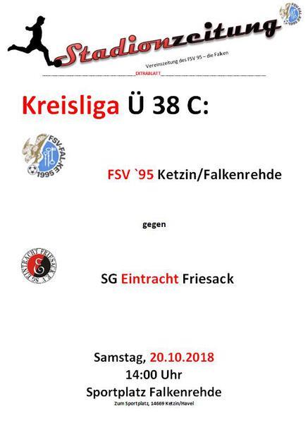 Spielankündigung 20.10. 14:00 Falkenrehde