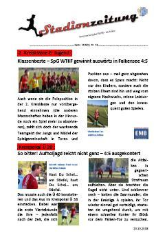 Stadionzeitung Nr. 16 erschienen