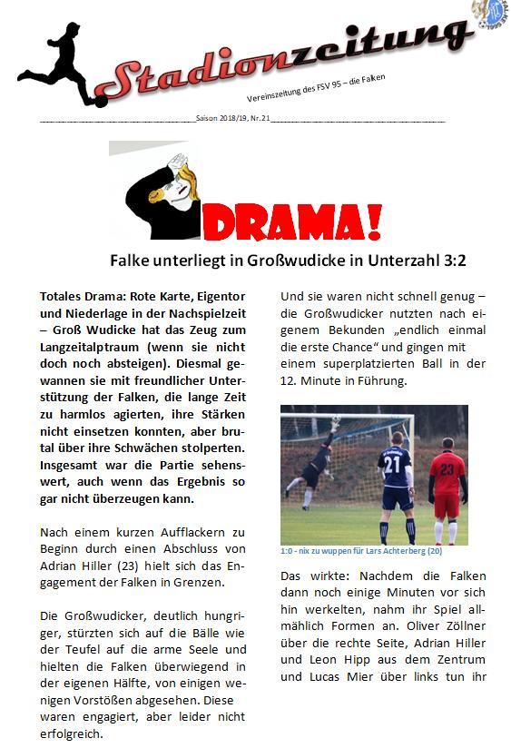 Stadionzeitung Nr. 21