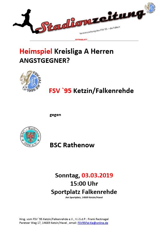 Der Härtetest – reloaded: Am Sonntag gegen BSC Rathenow in Falkenrehde