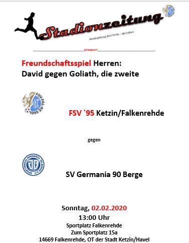 Heute 13:00 Uhr auf dem Sportplatz in Falkenrehde