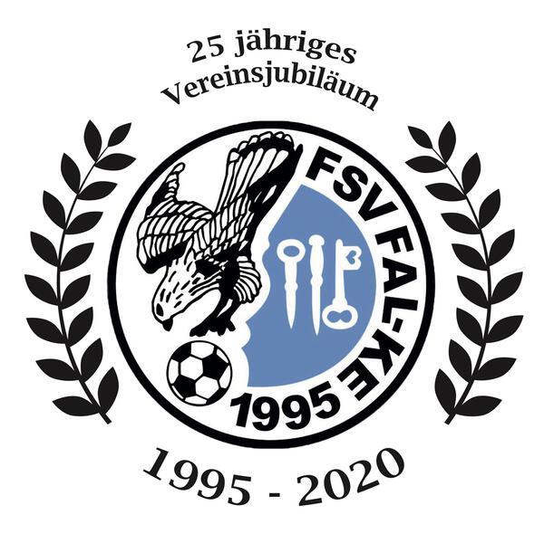 das Jubiläumslogo des FSV '95 Ketzin/Falkenrehde e.V.