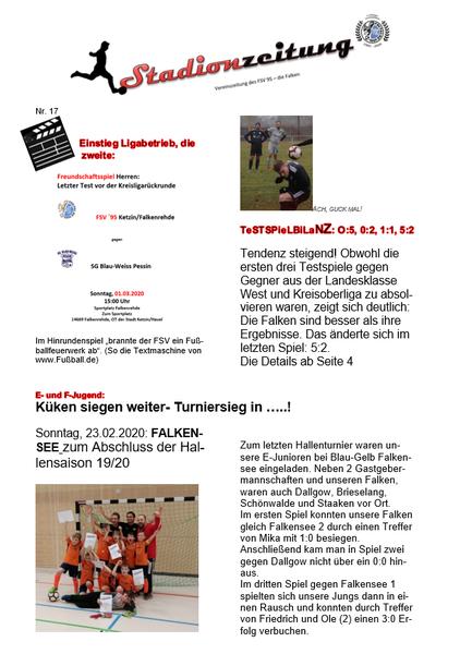 Stadionzeitung Nr. 17