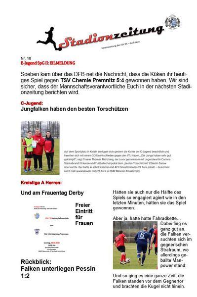 Stadionzeitung Nr. 18