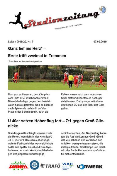 Stadionzeitung Nr. 7