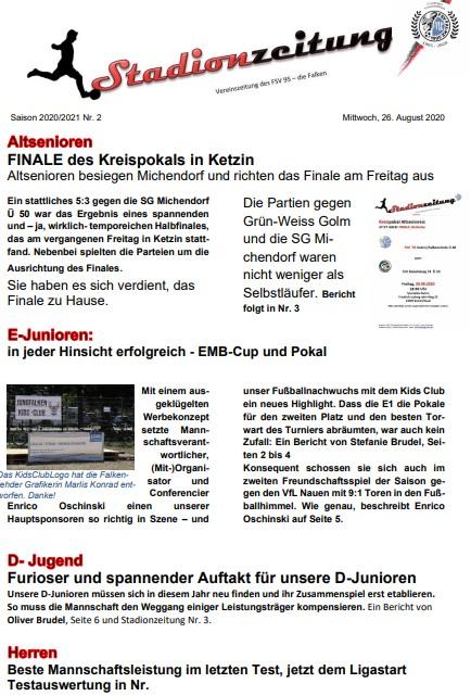 Stadionzeitung Nr. 2 img
