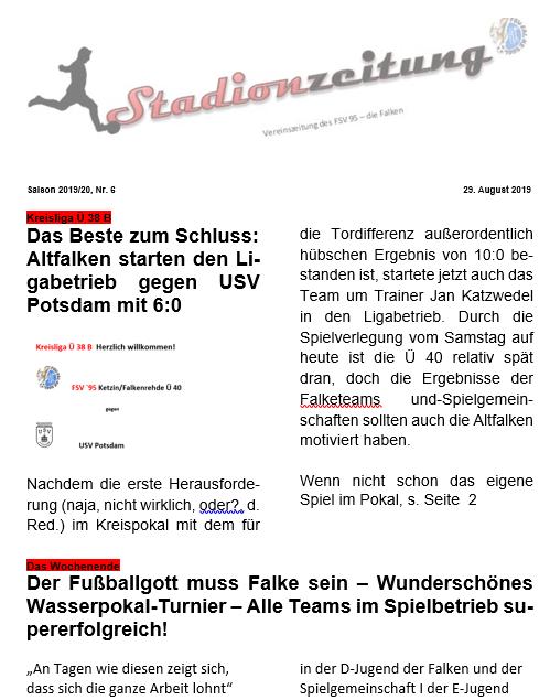 Altfalken siegen gegen USV Potsdam