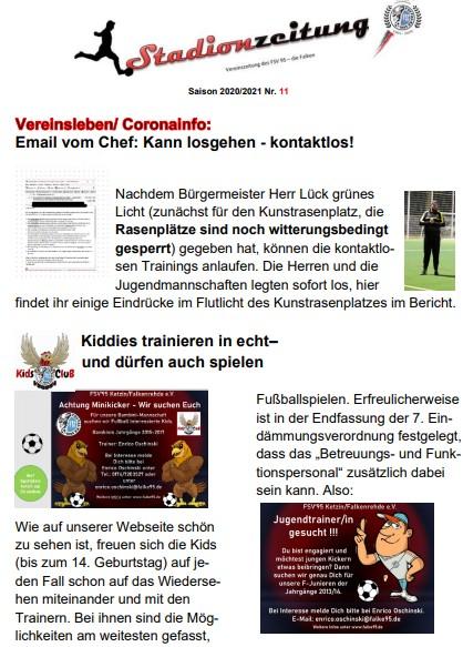 Stadionzeitung Nr. 11