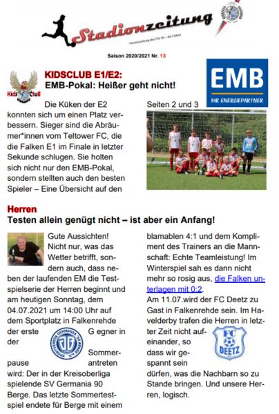 Stadionzeitung Nr. 13