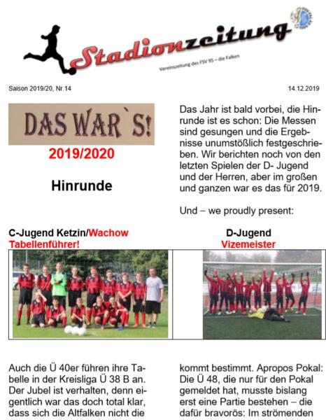 Stadionzeitung Nr. 14