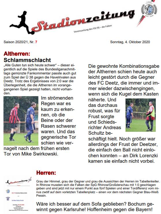 Stadionzeitung Saison 2020-21 - Nr. 7