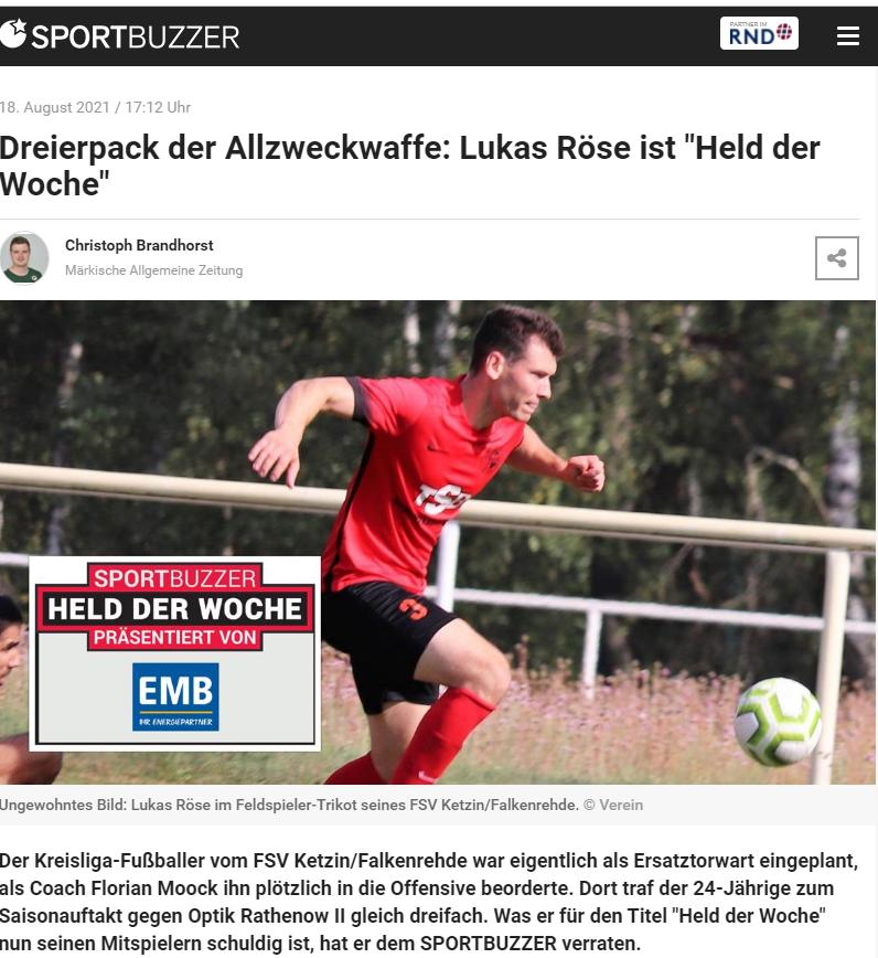Held der Woche: Lukas Röse